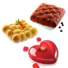 17 Shapes Silicone Cake Mold French Dessert Mousse Mold Round Heart Form Baking Mold Pan Cake Decorating Tool BPA Free