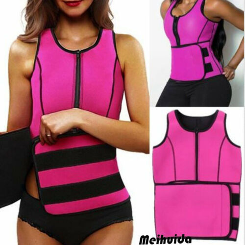 Unisex Men Women Lady Neoprene Corset Tummy Waist Trainer Vest Tank Workout Slimming Shapewear Sweat Belly Belt Body Shaper 5