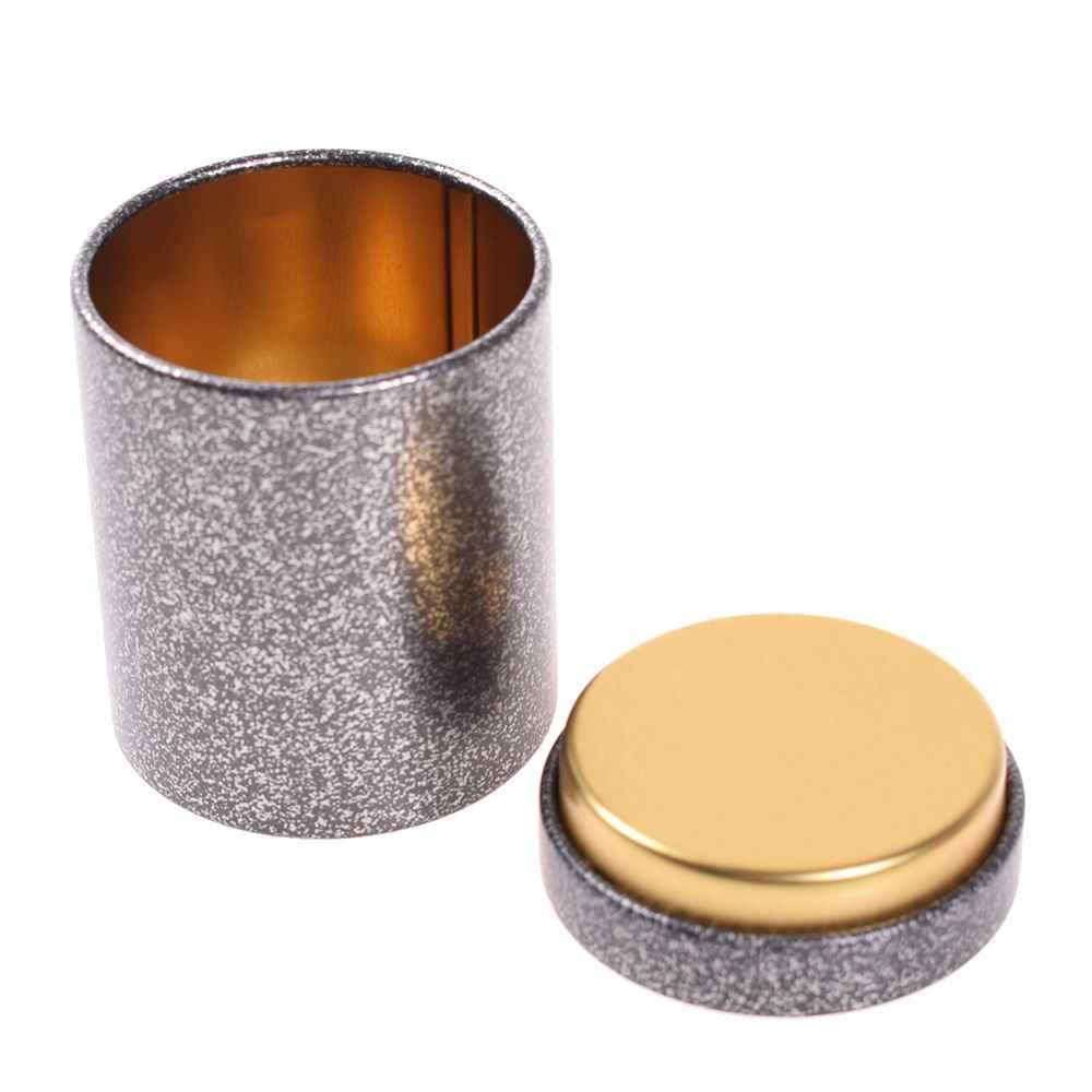 Mini puszka do przechowywania pudełko kształt zaokrąglony zamknięte puszki Jar kawa herbata Caddy herbata żelazne pudełko Tinplate pojemnik na prezent Home Decor