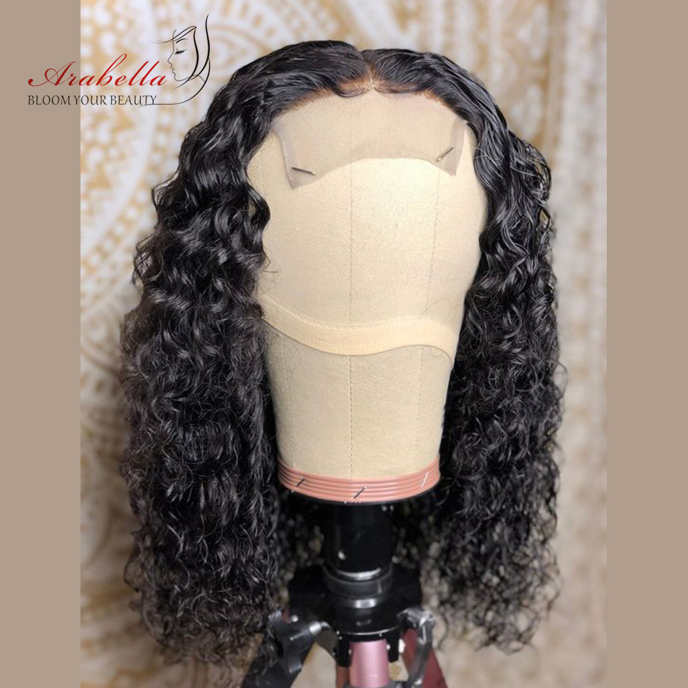 Deep Wave Bob Wig  Hair 180% Density Lace Closure Wig  With Baby Hair 100%  Wigs Bob Deep Curly Arabella 2