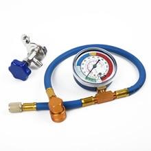 R134A R12 Hose Car Blue Air Conditioning Refrigerant Measuring Gas Gauge Equipment Plastic Metal New Practical