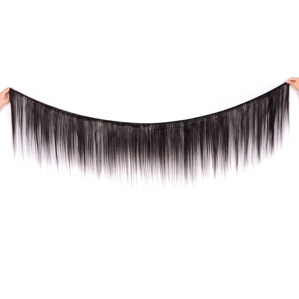 Extensiones de pelo ondulado brasileño Karizma de 3 mechones con cierre en la parte media con cierre de extensión de pelo humano no Remy