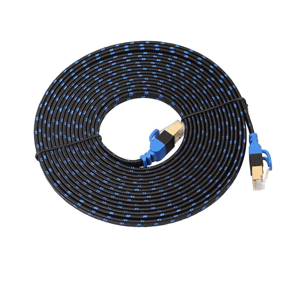 Durable 50cm 1M 3M 5m 8m 10M 15M 20M Ethernet Internet Network Patch LAN Flat Cable Cord For Computer Laptop