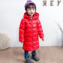 цена Kids Girls Boys Jacket Autumn Winter Jacket For Girls Coat Baby Warm Hooded Outerwear Coat  Girls Clothing Children Down Parkas онлайн в 2017 году