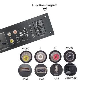 Image 3 - Liga de alumínio multimídia, usb vga, rede hdmi, interface uk/eu/us/cn tomada elétrica placa de energia china plug adaptador