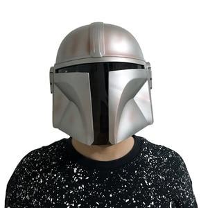 Image 5 - 2019 את Mandalorian Boba פט מסכת קסדת קוספליי מלחמת כוכבים מלא פנים PVC קסדת ליל כל הקדושים אבזרי העלייה של סקייווקר