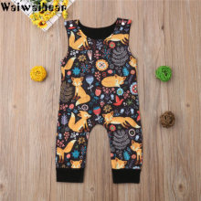 Waiwaibear Baby Infant  Rompers Boys Girls Sleeveless Cartoon Jumpsuit Toddler Clothes baby
