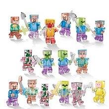 Figurines d'action My World Herobrine Ghast Wither Steve, blocs de construction, ensemble de briques, cadeaux, jouets éducatifs