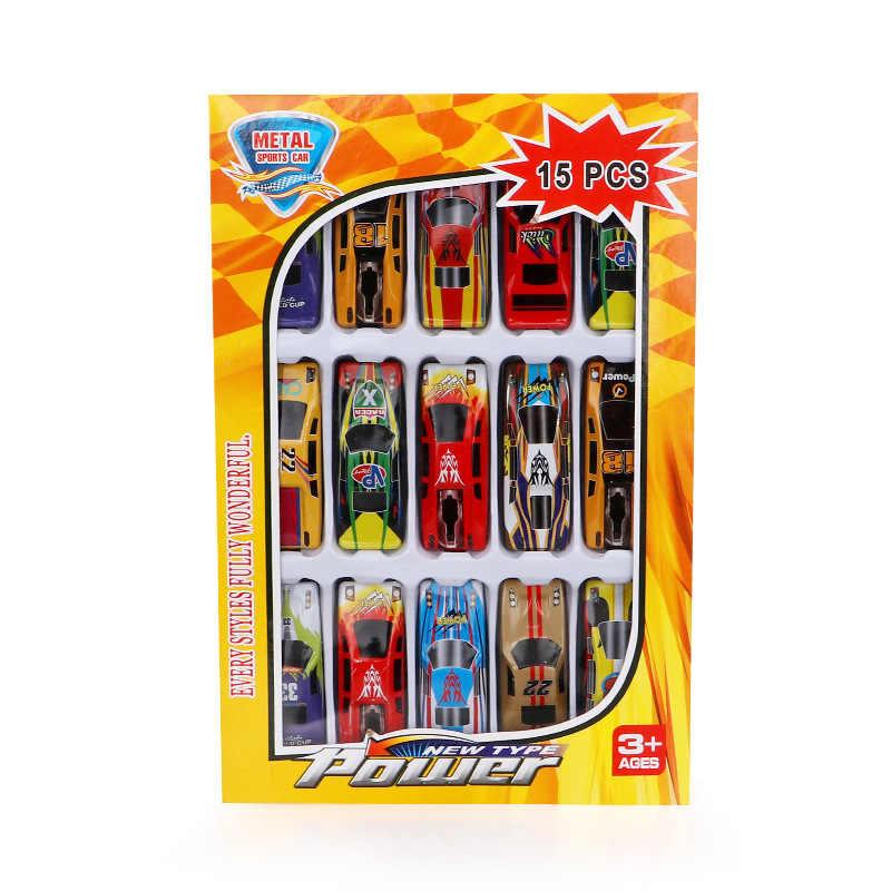 5-15 ピース/セット子供のおもちゃ自動車おもちゃ合金レーシングカーモデルコレクションミニ型車両のおもちゃの車子供