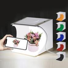 Gosear 1 шт. портативный софтбокс складной мини светодиодный фотостудия фотосъемка светильник Софтбокс Палатка+ 6 шт. фонов