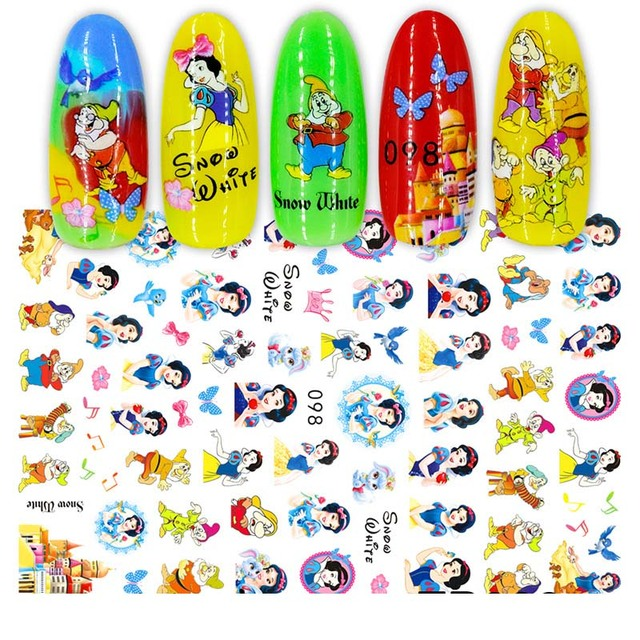 1Pcs Cartoon Animal Brand Nail Art Stickers Anime Love Stars Nail Art Decoration Repair Accessories 3