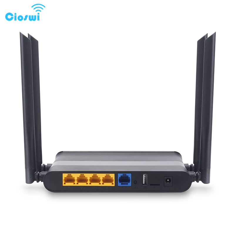 Cioswi 1200Mbps Professional 2.4G & 5G Dual Band Wireless Wifi Gigabit Router Strong Stable Wifi Signal Wide Coverage