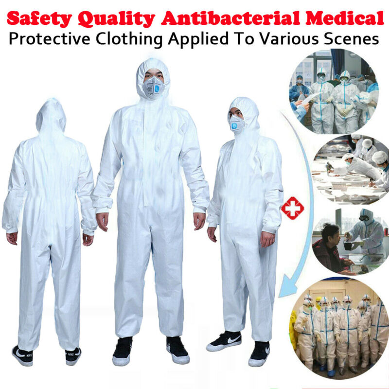 White Safety Coverall Protective Clothing Isolation Suit Disposable Washable Protective Clothes Workshop Safety Suit