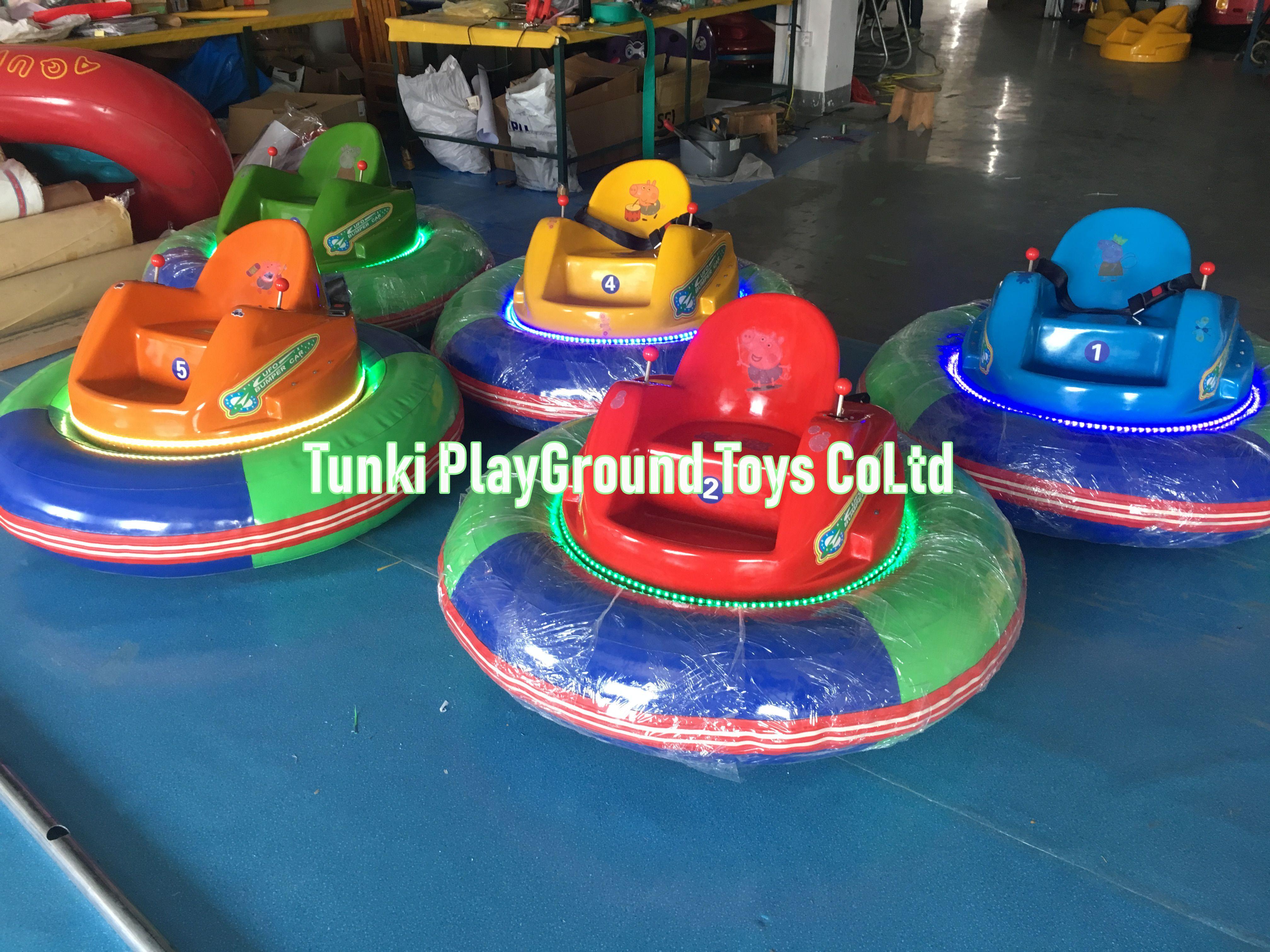 Amusement Park Kid Rides Equipment Battery Operated Mini Bumper Cars For Sale