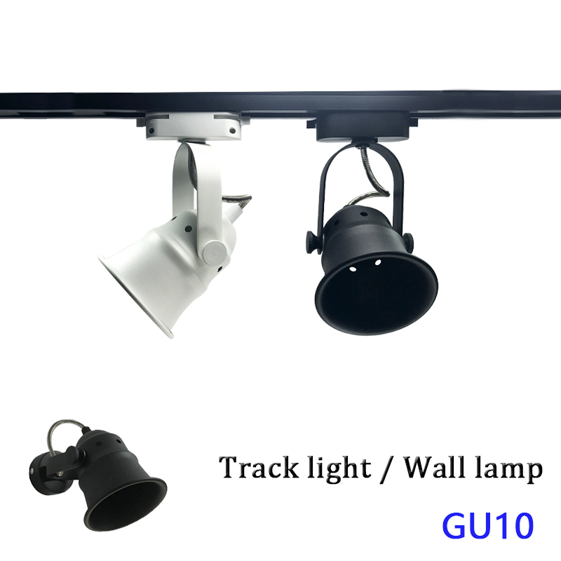 GU10 Surface Mounted Ceiling Led Track Light Aluminum Ceiling Rail Track Lighting Spot Rail Spotlights Replace Halogen Lamps
