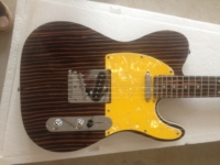 Electric Guitar/Zebra Yellow Protector Delicate High end Guitar/Customizable Chinese Electric Guitar