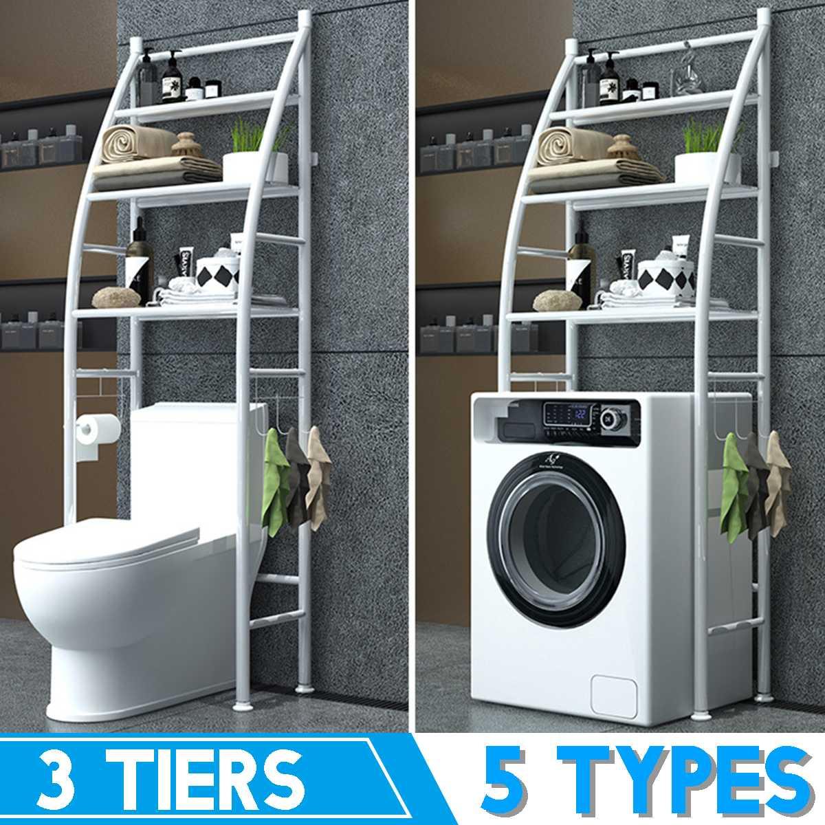 5 Types Over The Rack Metal Toilet Cabinet Shelving Kitchen Washing Machine Rack Bathroom Space Saver Shelf Organizer Holder New