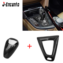 цена на RHD/LHD Carbon Fiber Steering Wheel Trim Dry Carbon interior Gear Knob Cover For BMW M2 F87 F80 M3 F82 F83 M4 F10