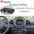 Беспроводной CarPlay Android авто для Mini R55 R56 R57 R58 R59 R60 R61 F54 F55 Clubman Countryman Hardtop Cooper John Cooper работает