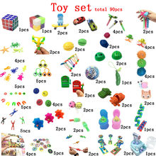 90 pieces of decompression DIY decompression toy set new strange children's educational toys / adult gifts