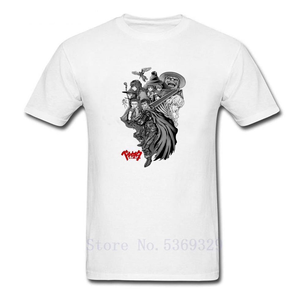 Foo Fighter Tshirt Berserk Noir Mens Novelty Cool Print Tops & Tees 100% Cotton Round Collar Natural O-Neck T-Shirts image