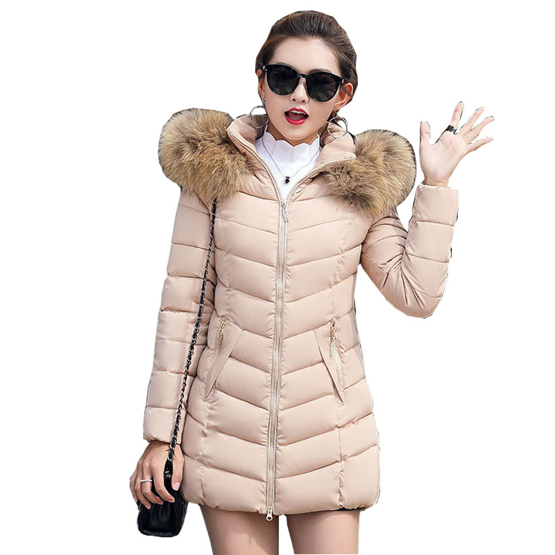 Hooded Fur Collar Winter   Down     Coat   Jacket Long Thick Warm Women Casaco Feminino Abrigos Mujer Invierno Student Wadded Parkas 09