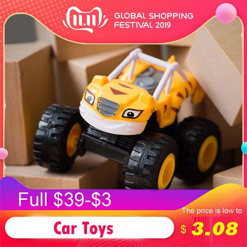 1 шт. Blaze автомобиль игрушки 1: 64 автомобилей литья под давлением игрушка монстр машины мультфильм ПВХ Модель автомобиля игрушки гоночные