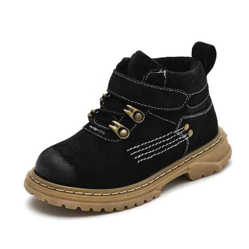 Kinderen Winter Laarzen Voor Jongens 2019 Echt Leer Meisje Snowboots Kids Sneakers Peuter Meisje Winter Schoenen Warm Martin laarzen