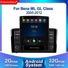 4g lte 2 din android player de rádio multimídia carro para mercedes benz ml w164 x164 ml350 ml300 gl500 ml320 ml280 gl350 gl450 gps