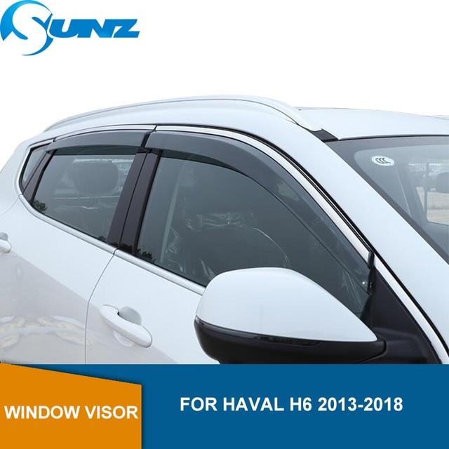 รถสำหรับHaval H6 2013 2014 2015 2016 2017 2018 2019โปร่งใสสูงSun Rain Guards Weather Shield SUNZ