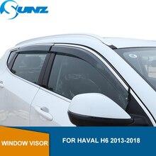 Protector de viento para coche Haval H6, 2013, 2014, 2015, 2016, 2017, 2018, 2019, muy transparente, protección contra la lluvia, protección contra el clima, SUNZ