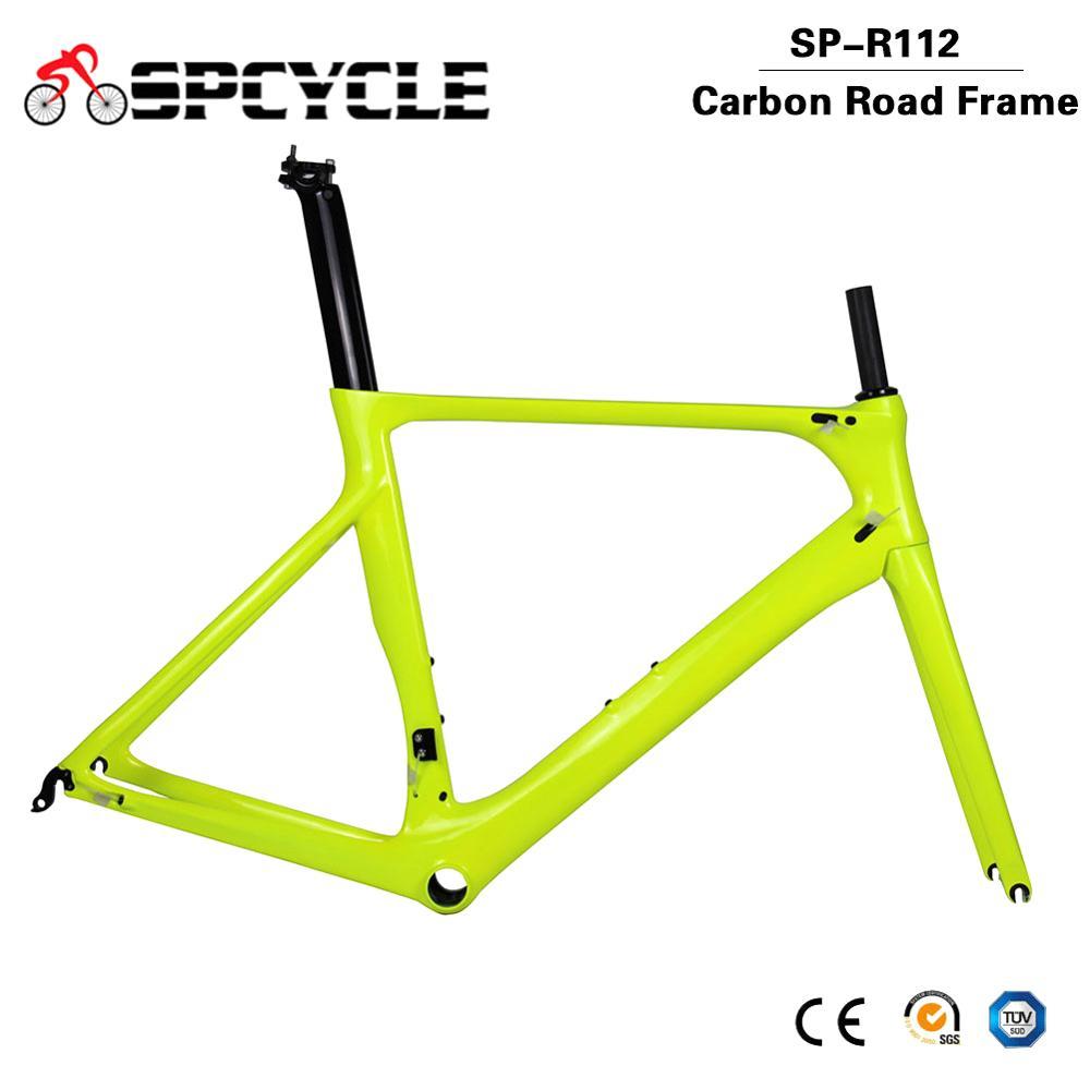 Spcycle New T1000 Carbon Road Bike Frames Aero Racing Road Bicycle Carbon Frames 700C Carbon Road Bike Framesets 50/53/56cm