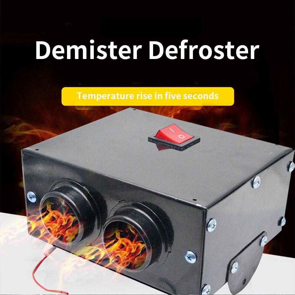 12V 600W Car Heater Fan Hot Windscreen Demister Defroster Heating Warmer Black