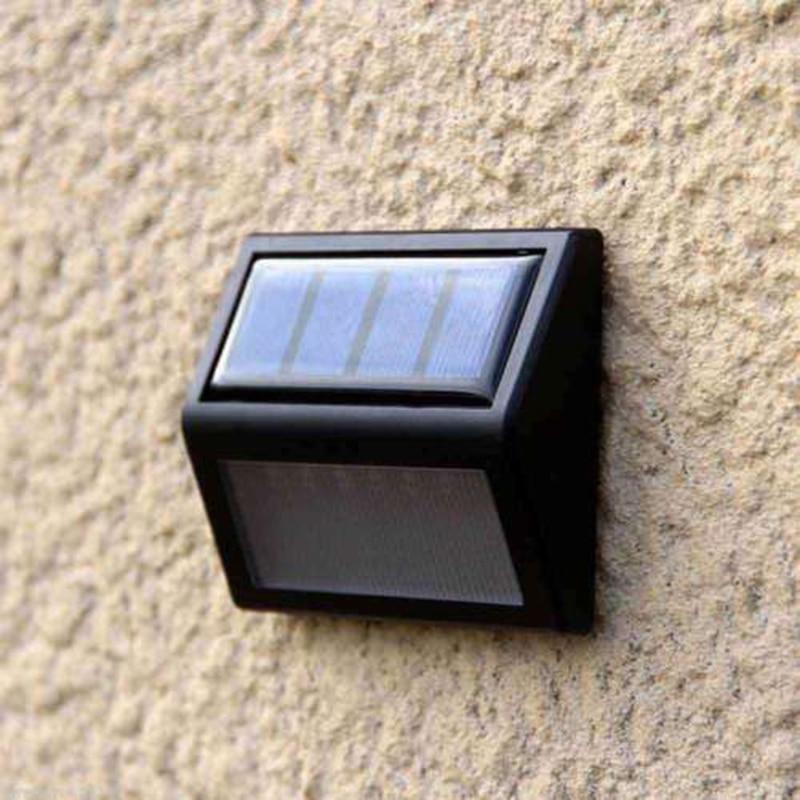 Cheap Price for  6LEDs Solar Powered Light Sensor Wall Lights Home Garden Step Stair Deck Lamp A