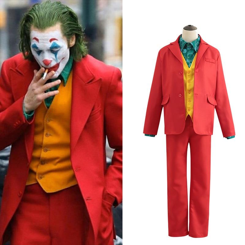 Halloween Phoenix 2020 Batman Joker Outfit Uniform Cosplay 2020 Joker Joaquin Phoenix