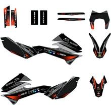 SMC R 690 2012 2018 Equipe Fundo Decalques para KTM SMCR SMC R 690 2012 2013 2014 2015 2016 2017 2018 Kit de Gráficos Autocolantes
