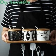Nordic ceramic seasoning jar box bottle household salt shaker