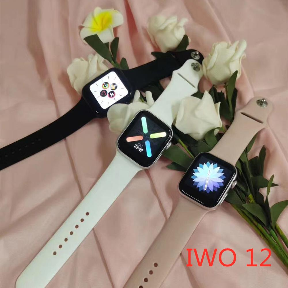 Smartwatch Series 5 IWO <font><b>12</b></font> <font><b>Smart</b></font> <font><b>Watch</b></font> 1:1 44MM <font><b>Watch</b></font> 5 IP68 waterproof ECG Heart Rate Monitor Support Music Control Clocks image