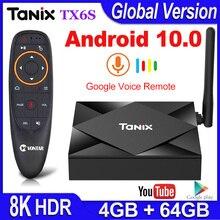 ТВ приставка Tanix TX6S, Android 10, Смарт ТВ приставка 4 Гб ОЗУ 32 Гб 64 Гб ПЗУ, ТВ приставка Allwinner H616, четырехъядерный приставка H.265 4K, медиаплеер 2 ГБ 8 ГБ