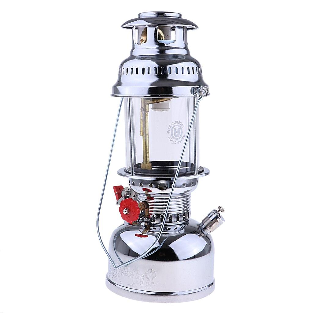 Portable Outdoor Gas Lantern Camping Hiking Light Safety Kerosene Oil Lamp