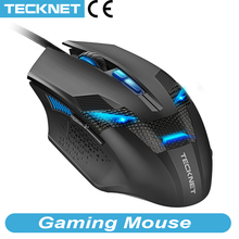 TeckNet 7000DPI Gaming Mouse 8 Programmable Macro RGB Backlight  LED Light Modes Wired MMO Computer Mice