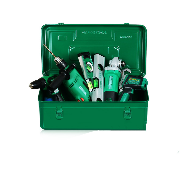 Professional Iron Tools Box Single Layer Hardware Toolbox Household Maintenance Electrician Tool Carrying Case Storage Organizer