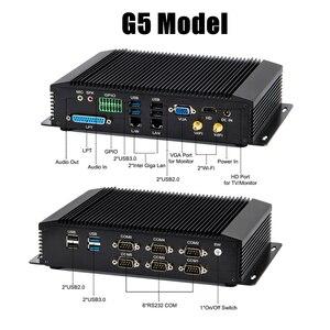 Image 5 - Eglobal G سلسلة الصناعية بدون مروحة كمبيوتر صغير Win10 إنتل i7 i5 i3 2955U 2 * إنتل Lans 6 * COM USB كمبيوتر مصغر لينكس 4G واي فاي HDMI