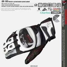KOMINE GK193, gants de moto en Fiber de carbone, 3 couleurs, respirants, pour chevalier 3D, pour écran tactile sec