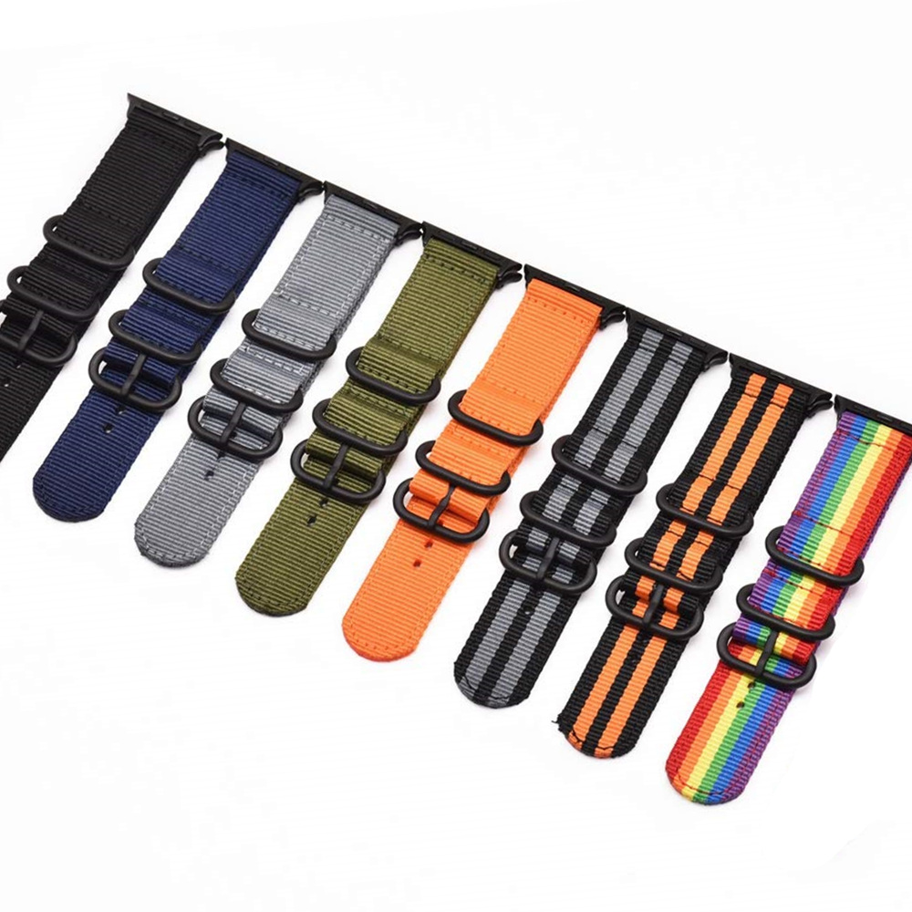 NATO Strap For Apple Watch 4 5 Band 44mm 40mm IWatch Band 42mm 38mm Sports Nylon Bracelet Watch Strap Apple Watch 4 5 3 42/38 Mm