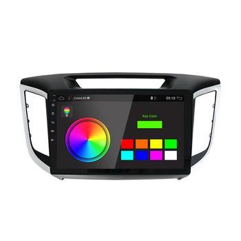 кассетный магнитофон   Автомобильный радиоприемник 1 Din Android автомобильный Dvd-кассета плеер для Hyundai Creta/IX25 2014-2017 магнитофон Gps навигация Wifi 4G + 64G