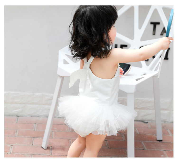 KID'S Swimwear Girls Baby Bathing Suit Cute Wing GIRL'S BABY'S Swimsuit 1-3-6 One-piece Princess Tour Bathing Suit