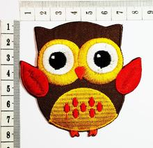 Mignon hibou dessin animé Patch dessin animé enfants enfants brodé fer Patch/coudre sur Patch vêtements sac T-Shirt jean Biker Badge Applique(China)