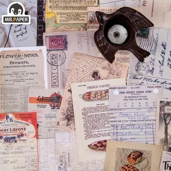 Mr.paper 50pcs/lot Vintage Plants Medieval Draft paper Card Journaling Bullet DIY Scrapbooking Material Card Retro LOMO Cards