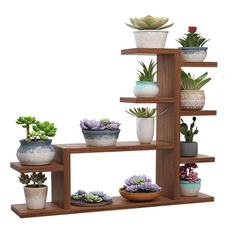 Solid Wood Desktop Float Windowsill Exceed Narrow Multi-storey Province Space Small Flowerpot Rack Rack